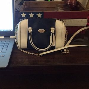 Navy and White Coach